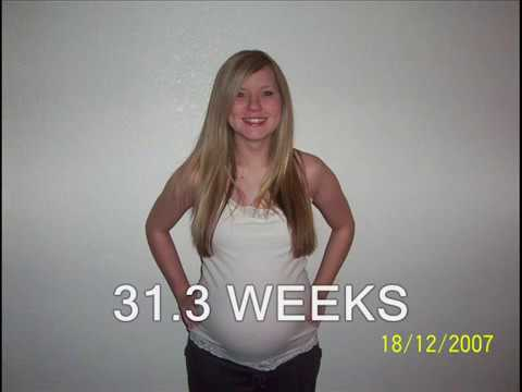 9 Months of Pregnancy +10 Weeks Postpartum Time Lapse