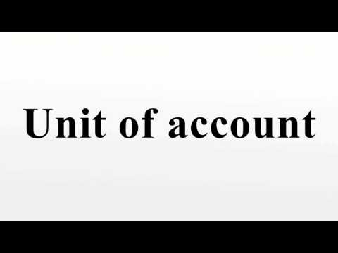 Unit of account