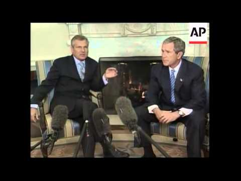 Bush comments on North Korea and progress of Iraq inspections