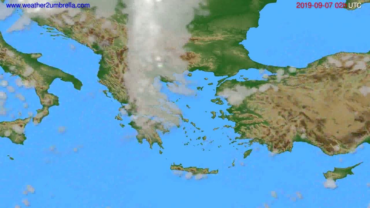 Cloud forecast Greece // modelrun: 12h UTC 2019-09-04