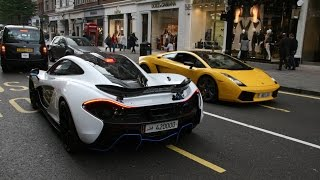 The Arab supercars we still out in force in London this Octobe with cars like an MSO McLaren P1 from Qatar, The PAgani Zonda Cinque Roadster and much more. T...