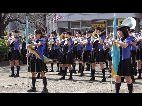 すがも染井吉野桜まつりパレード 多摩市立落合中学校 吹奏楽部 マーチングバンド ロータリー会場演奏 ?