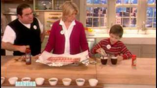 Chef Emeril Lagasse and his son, E.J., share a simple recipe for oven-barbecue ribs. To watch the full episode, visit MarthaStewart.com/family-show. Brought to ...