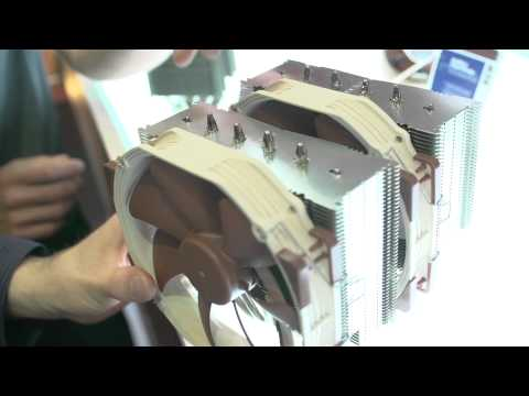 LinusTechTips - Noctua is showing off a successor to the NH-D14, black industrial grade fans (but still silent and awesome) and a CPU heatsink that uses ACTIVE noise cancell...