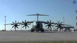 Video [HD] Airbus A400M Engine Start up at blue danube airport linz MP3, 3GP, MP4, WEBM, AVI, FLV Agustus 2018