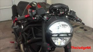 7. DUCATI MONSTER Headlight bulb replacement