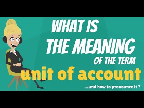 UNIT OF ACCOUNT: meaning and explanation