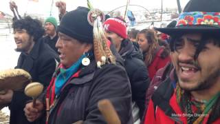 Final Prayer - Drums and  Songs Lead Water Protectors Out of Oceti Sakowin