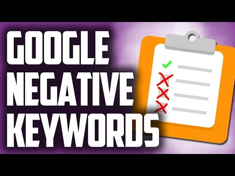 Adding Negative Keywords To A Google Adwords Adgroup