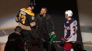Conor McGregor drops first puck in Boston