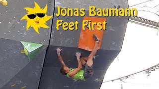 Jonas Baumann, Feet First | Sunday Sends by OnBouldering
