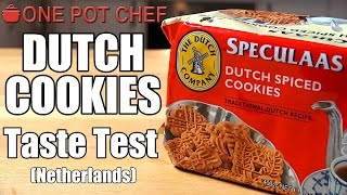 """Today I'm sampling some Dutch Spiced Cookies. I found these at the supermarket and thought I would give them a go, as they seemed a little mysterious. Are they any good? And what are the secret spices? Watch and find out!Want to Taste Test this item yourself? Buy it here: http://go.magik.ly/ml/40xg/Subscribe to One Pot Chef (it's free!): http://bit.ly/SubOPCONE POT CHEF COOKBOOKS - PAPERBACKS AND EBOOKS:http://www.lulu.com/spotlight/onepotchefONE POT CHEF COOKBOOKS ON iTUNES BOOKSTORE:http://itunes.apple.com/au/artist/dav...ONE POT CHEF APRONS + T-SHIRTS NOW AVAILABLE!http://shop.studio71us.com/collection...Filmed in 4K using the Sony FDRAX100 Video Camera - Check it out here: https://goo.gl/iHLnHPFollow me on Social Media: Twitter: http://www.twitter.com/onepotchefFacebook: http://www.facebook.com/onepotchefInstagram: http://www.instagram.com/onepotchefshowMusic Credits: """"Call to Adventure"""" by Kevin MacLeodhttp://incompetech.comRoyalty Free Music - Used with Permission under Creative Commons licence"""
