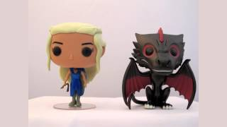 This is an unboxing & Review of the 2 pop pack of Daenerys & Drogon, metallic variant from the Game of thrones range.