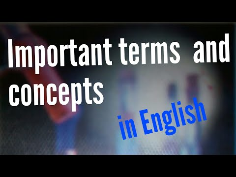 Some basic terms definition to remember in science  biology in English