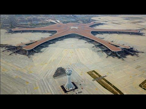 SO GEHT FLUGHAFEN: Vier Jahre Bauzeit - Weltgrößter Airport in Peking eröffnet