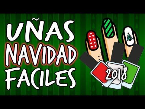 Videos de uñas - 6 DISEÑOS de Uñas para NAVIDAD 2018 · ¡FÁCILES Y BELLAS!
