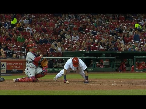 Watch: Yadi Gets Brushed Back, Does Push-ups, Gets a Hit