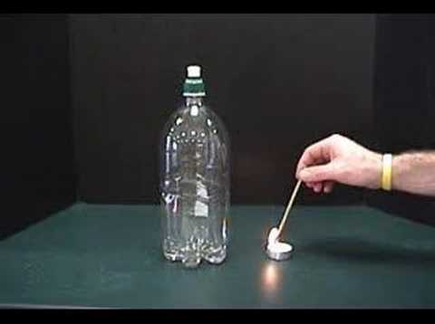 clouds - Science classroom demonstration of making a cloud in a soda pop bottle. The music is: Martin Bottcher's album Sound Kaleidoscope and it is called Klassenkeile.