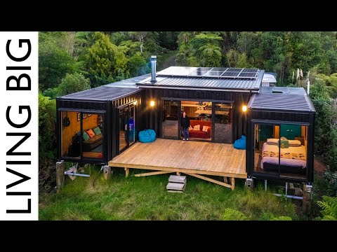 Off-Grid Living in a 5x 20ft Shipping Container Home