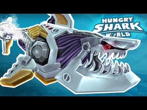ROBOT SHARK!!! - Hungry Shark World   Ep 63 HD