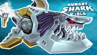 ROBOT SHARK!!! - Hungry Shark World | Ep 63 HD
