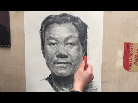 Portrait Drawing in Process Real-Time
