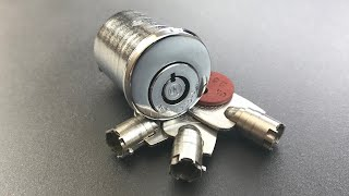 [641] RARE 10-Pin, Pin-in-Pin Tubular Lock Picked (Chicago Lock Co.)