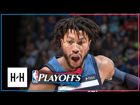Derrick Rose Full Game 4 Highlights Wolves vs Rockets 2018 Playoffs - 17 Pts, 6 Reb off the Bench!
