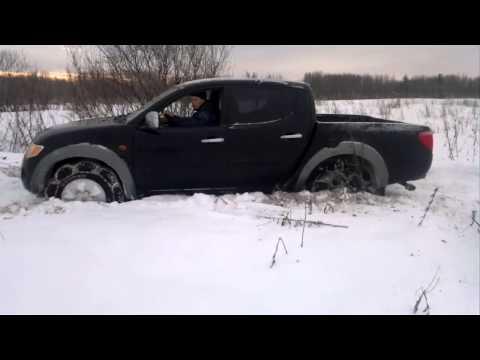 Mitsubishi l200 снег фото