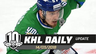 Daily KHL Update   March 14th, 2018 English