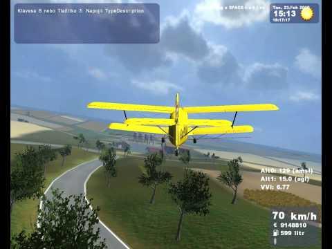 ls09 Landwirtschafts simulator 2009 crop-duster airplane