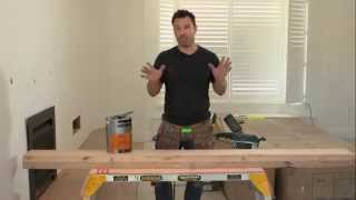 The Home Team S1 - How to Coat a Timber Mantle