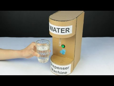 Simple Water Dispenser Machine From Waste Water Bottle | School Science Project | Craft | DIY