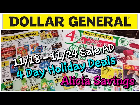 #AliciaSavings #DGdeals 11/18 - 11/24 Sales Ads | DG Thanksgiving week & 4 Day Sales Ads