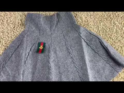 Детская теплая вязаная юбка видео