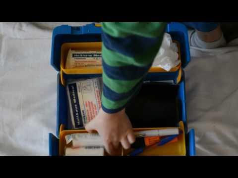 Erste Hilfe Koffer blau