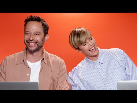 """Charlize Theron And Nick Kroll From """"The Addams Family"""" Find Out Which Characters They Really Are"""
