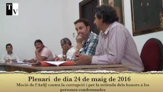 Moció de l'AxSJ contra la corrupció i per la retirada dels honors als condemnats