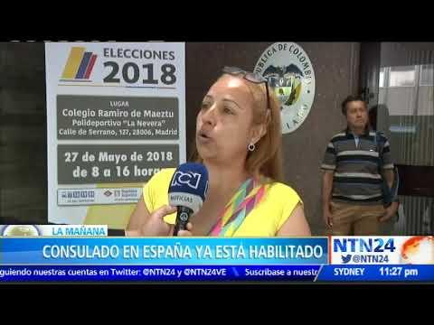 Colombianos en España ya están votando para las presidenciales (VÍDEO)