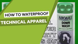 Nikwax Techwear waterproofing video