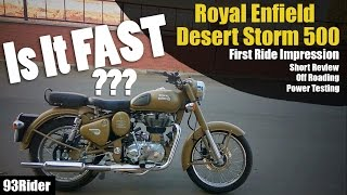 3. Royal Enfield | Classic | Desert Storm 500 | First Ride Impression and Short Review