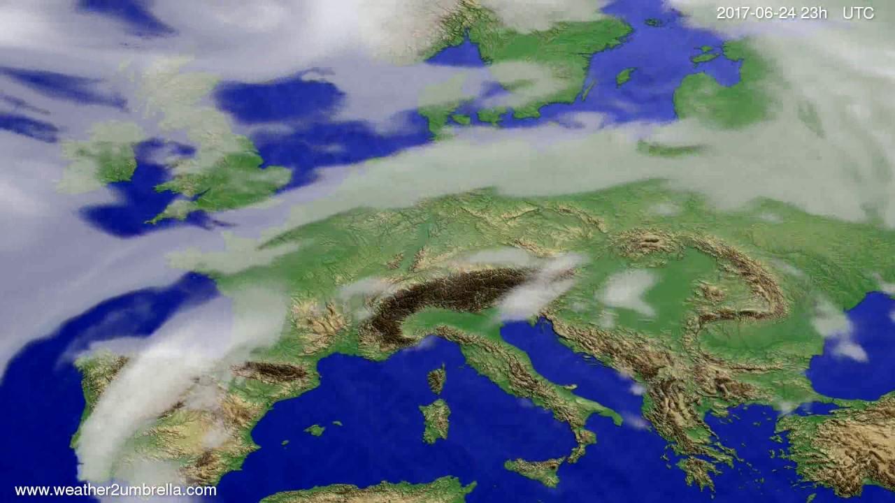 Cloud forecast Europe 2017-06-21