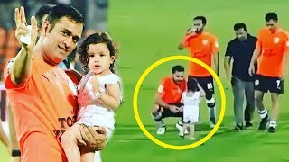 Virat Kohli's CUTE Video Playing With MS Dhoni's Daugther Zeva At Football Match