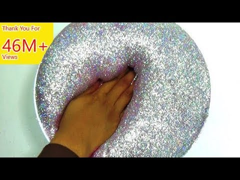 Cara Membuat Slime : Fluffy Hologram Glitter Slime - How To Make Slime