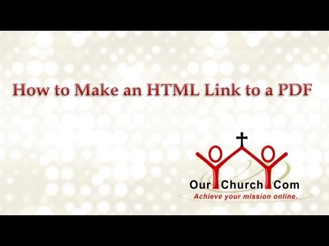 How To Make An HTML Link To A PDF