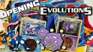 Opening 2 Pokemon TCG Evolutions Single-Pack Checklane Blisters - Weezing and Greninja are Awesome! by Flammable Lizard