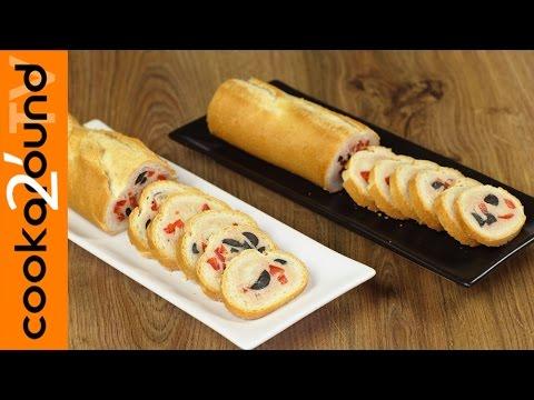 baguette ripiena con crema al tonno - ricetta