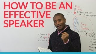 How to be an effective speaker: BE SPECIFIC!