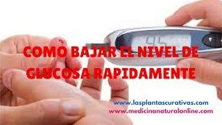 Como bajar el nivel de glucosa rápidamente http://lasplantascurativas.com http://medicinanaturalonline.com Mantener un correcto nivel de glucosa en la sangre ...