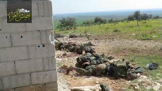 شاهد.. مقتل العشرات من قوات النظام بمحيط قرية معرزاف بحماة